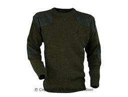 Embroidered roundneck hunting sweater