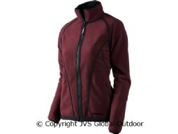 Kanu Lady Fleecejacke  Burgundy/Pirate black