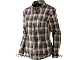 Lara Lady Bluse  Plum perfect check