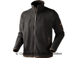 Norja Strickjacke  Charcoal grey melange
