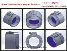 Rusan Q-R adapter fur Pulsar Core / DFA75 / DN55 (2 pins)