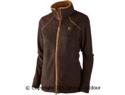 Sandhem Lady Fleecejacke Dark port melange