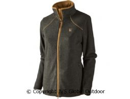 Sandhem Lady Fleecejacke Earth grey melange